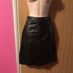 Gorgeous vintage Genuine Leather skirt
